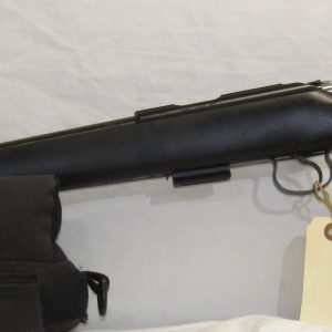 CZ 455 Synthetic, 22 LR. Bolt Action, Black Stock, 20″ Compensated Barrel