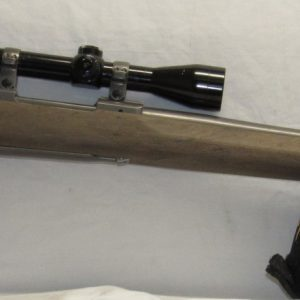 Ruger M77 Mark II 25-06 Rem, 26″ Heavy Barrel Stainless Varmint c/w Scope and Extra Stock