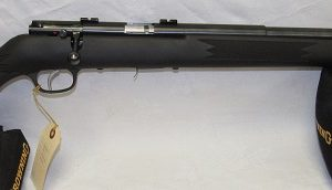Savage MKII Bolt Action 22LR. 21″ Heavy Barrel, Black Synthetic Stock, (USED)
